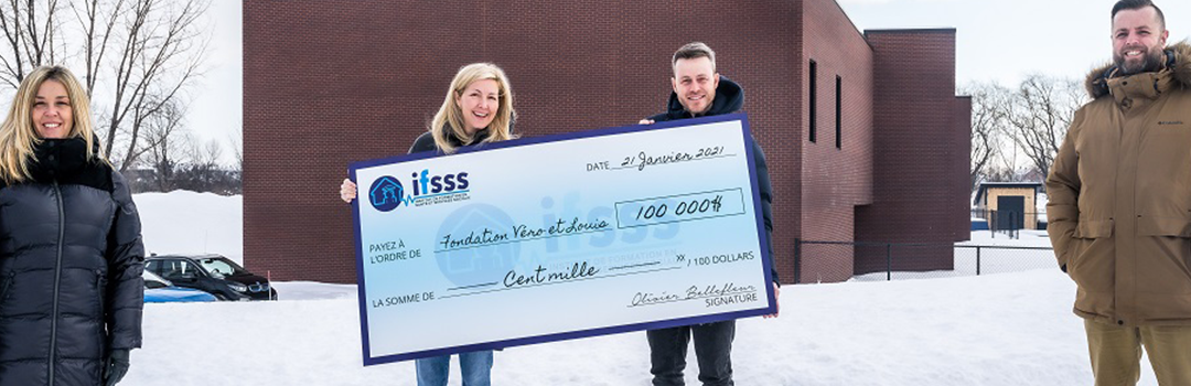 Nous sommes très fiers d'annoncer notre plus récent partenariat avec la Fondation Véro et Louis!